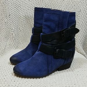 Naya Fisher Blue Booties  By Anthropologie